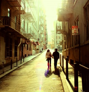 city light couple